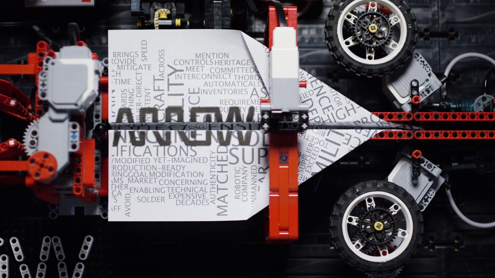 Arthur Sacek - LEGO Paper Plane Machine - Arrow Electronics