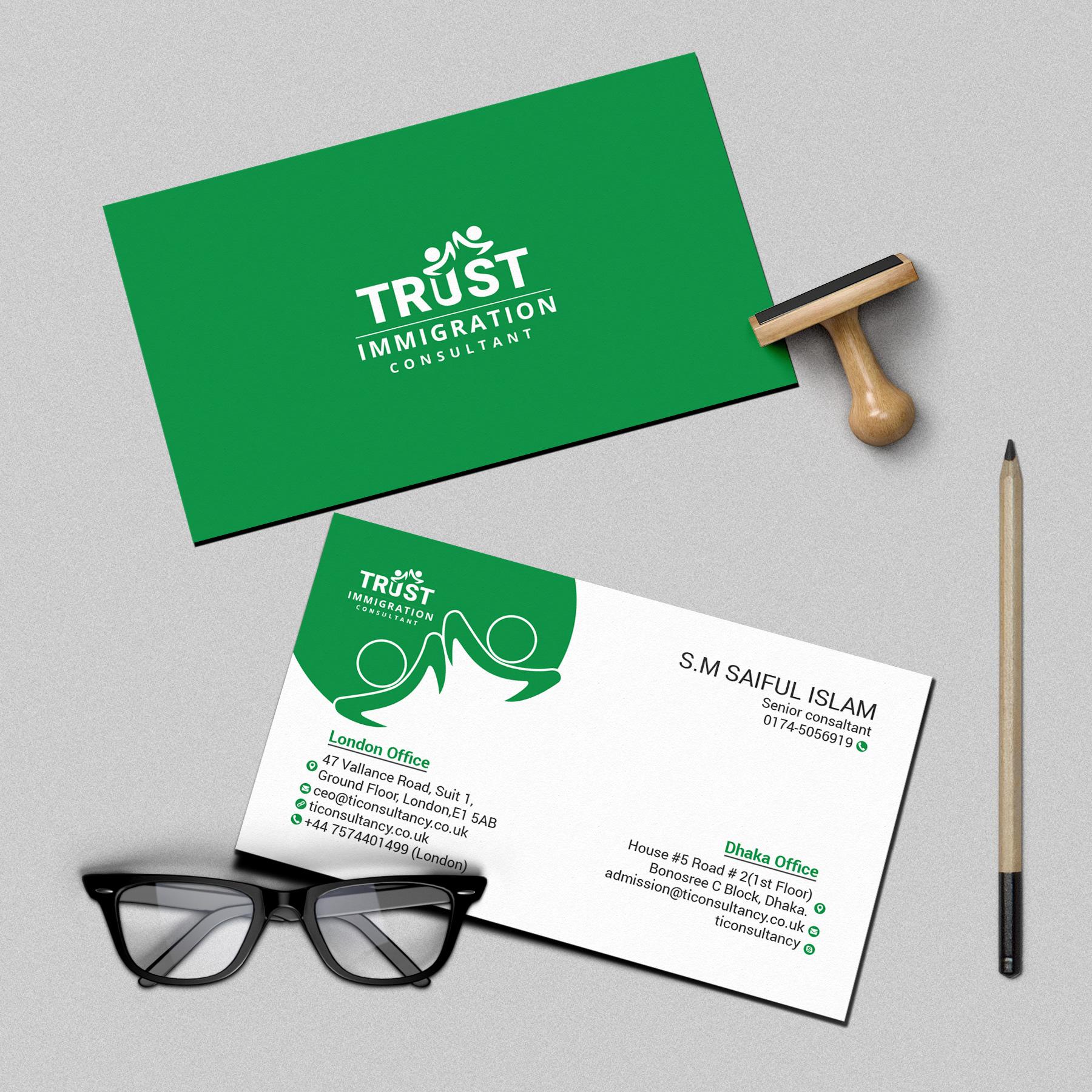 TRUST IMMIGRATION CONSULTANT (Brand Identity Design) on Behance