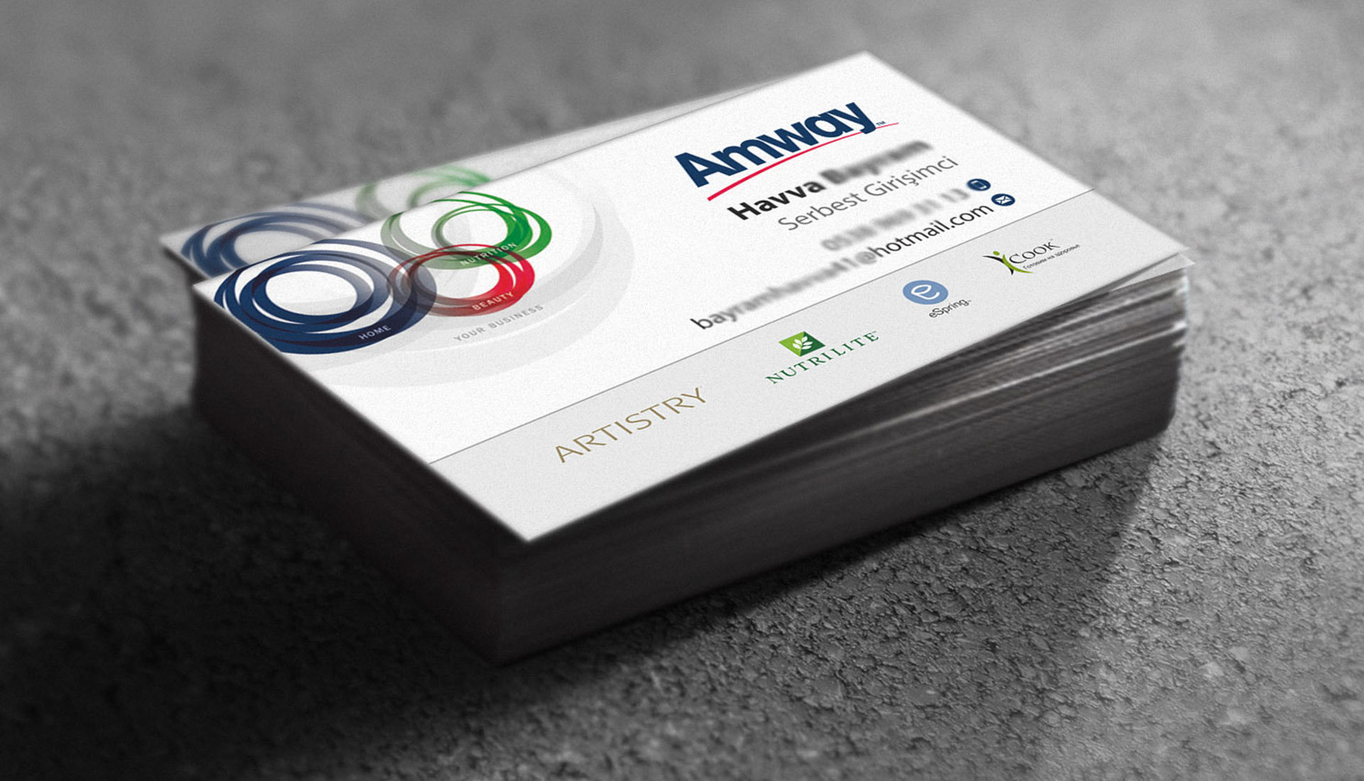 Murat Gzel Amway Business Cards