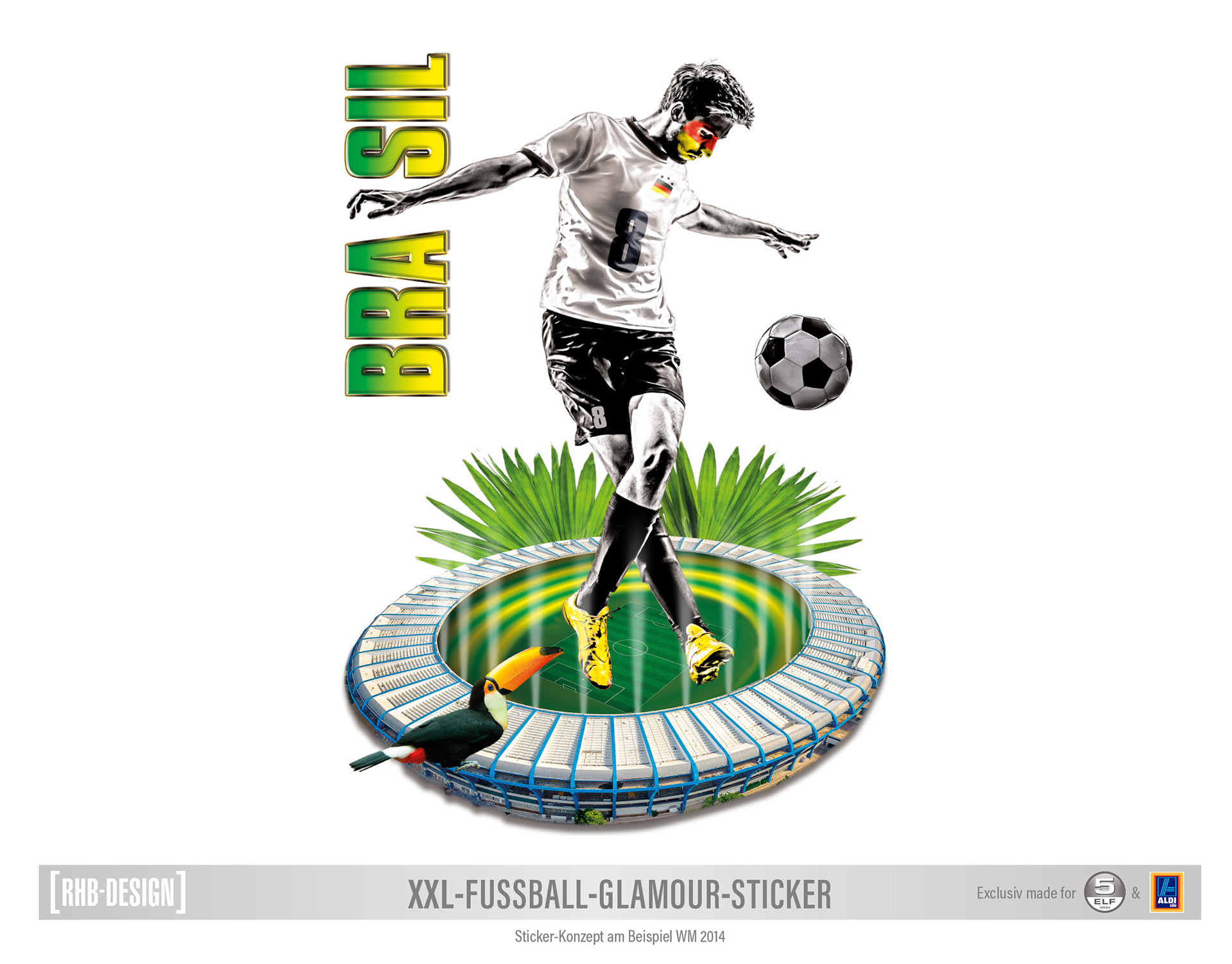 Xxl Fussball Sticker Soccer Sticker On Behance