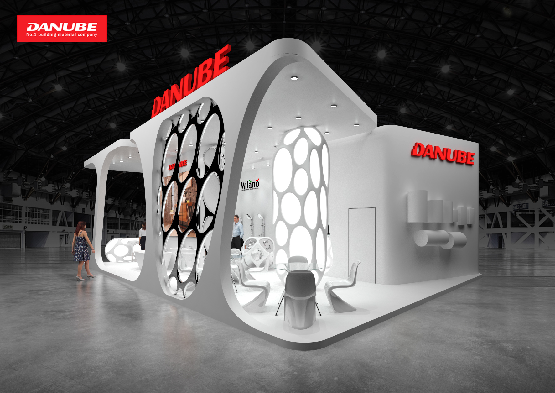 Danube, exhibition stand on Behance