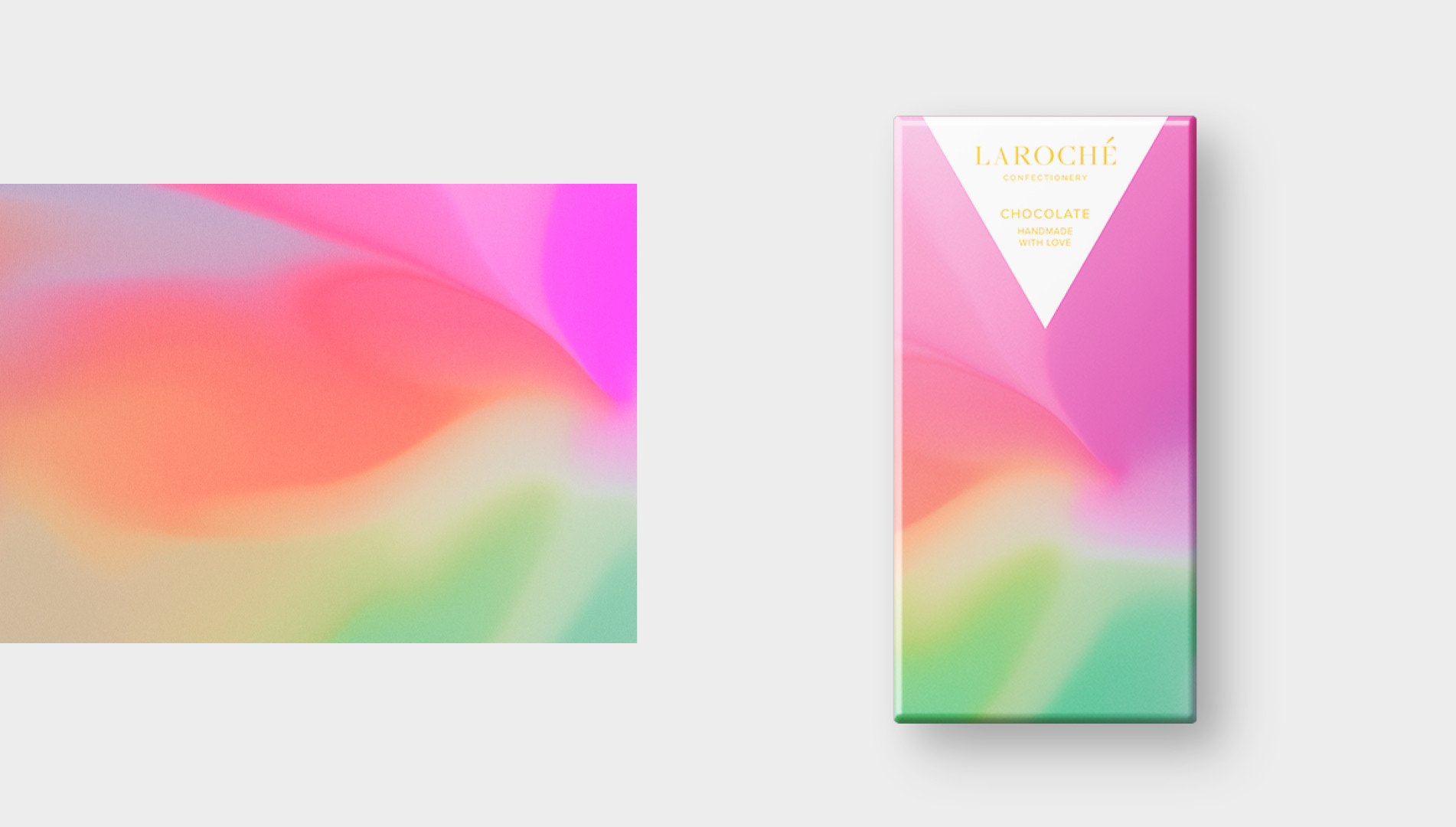 Vibrant & Abstract Packaging for Laroché Chocolate