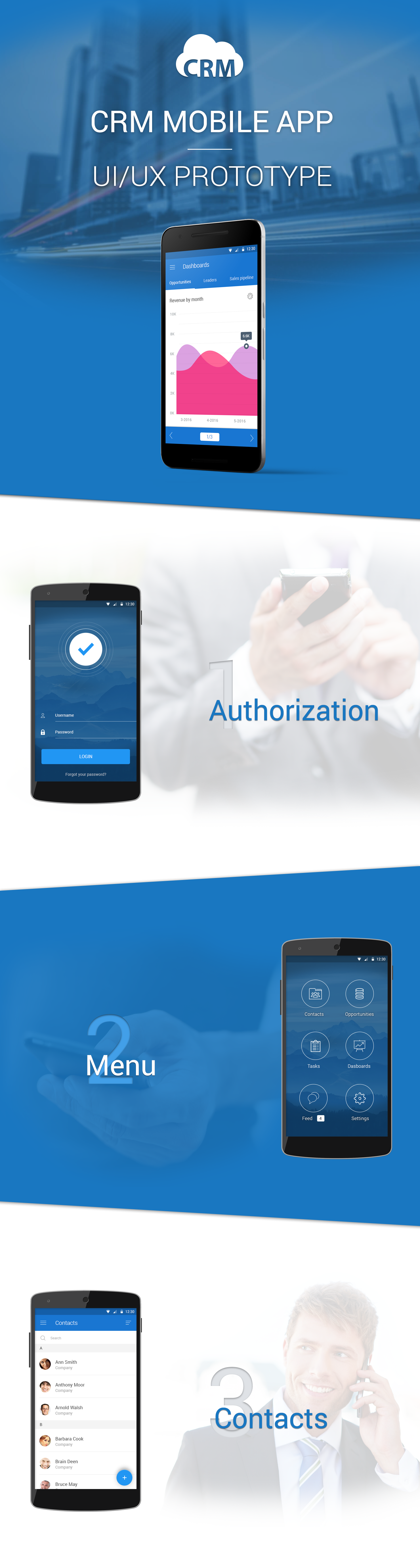 crm mobile app template on behance