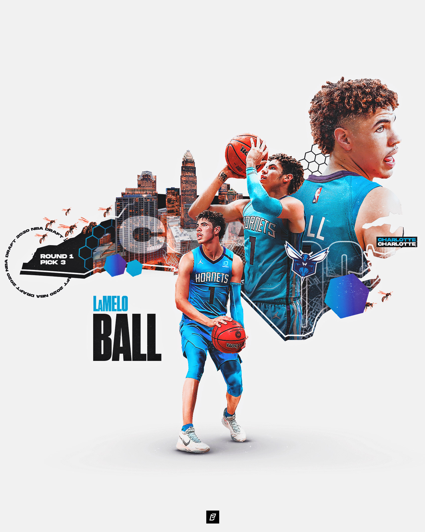 Lamelo Ball X Charlotte Hornets On Behance