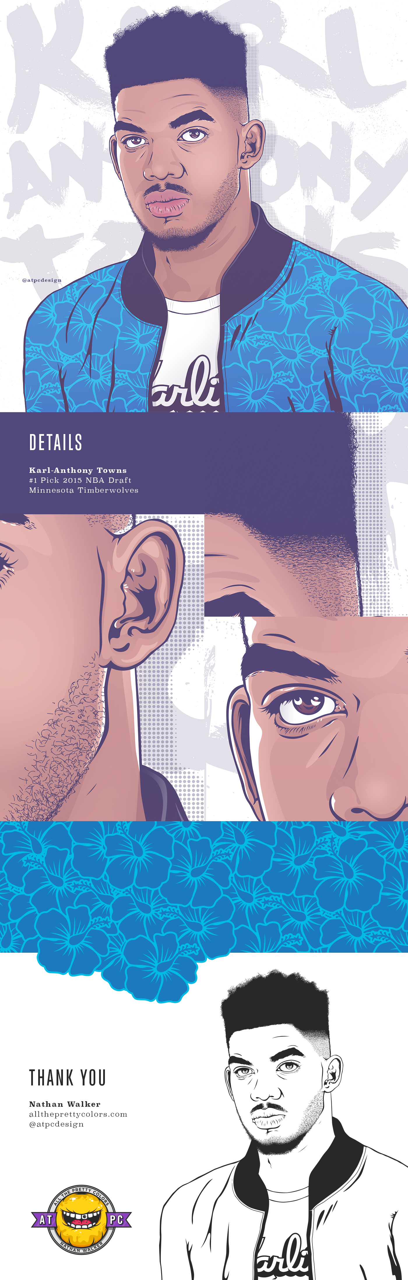 Karl Anthony Towns Portrait On Behance