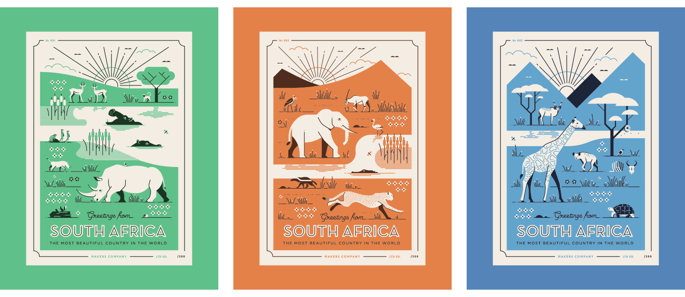 African Postcards On Behance