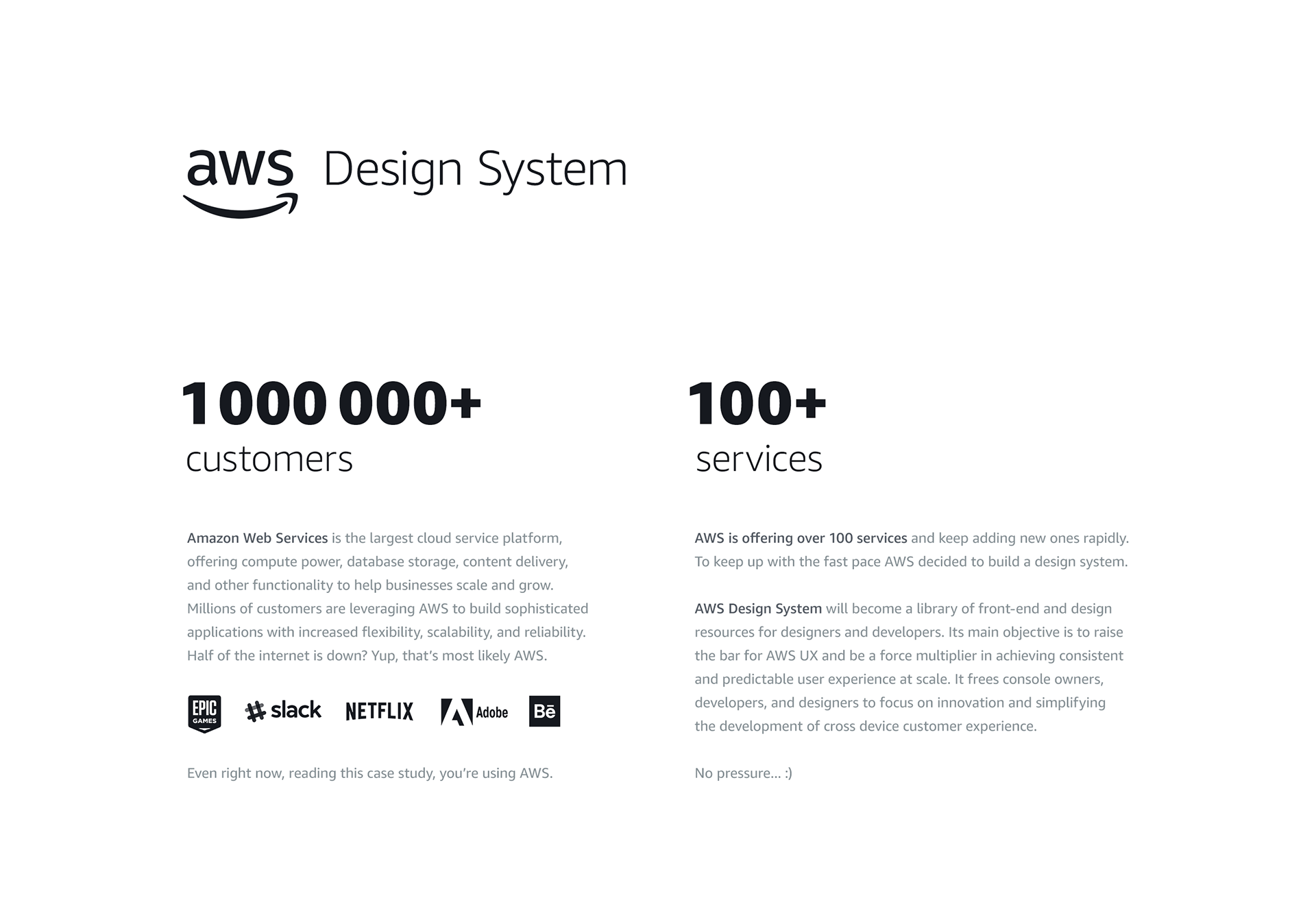 Amazon Web Services: Design System