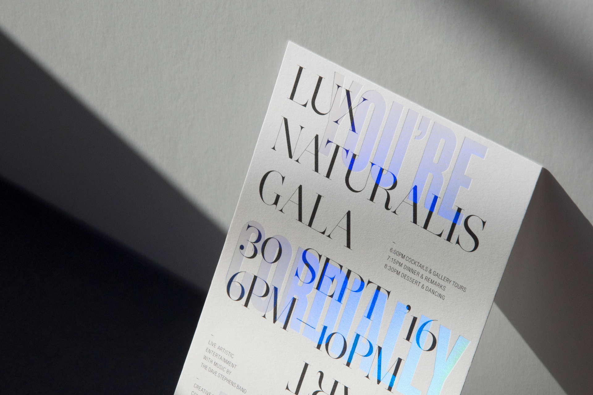 Lux Naturalis Gala Invitation On Behance