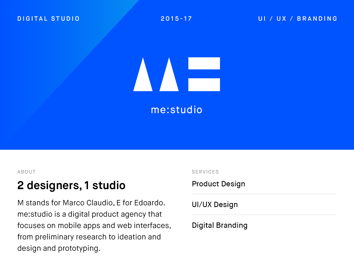 me:studio — Digital branding on Behance