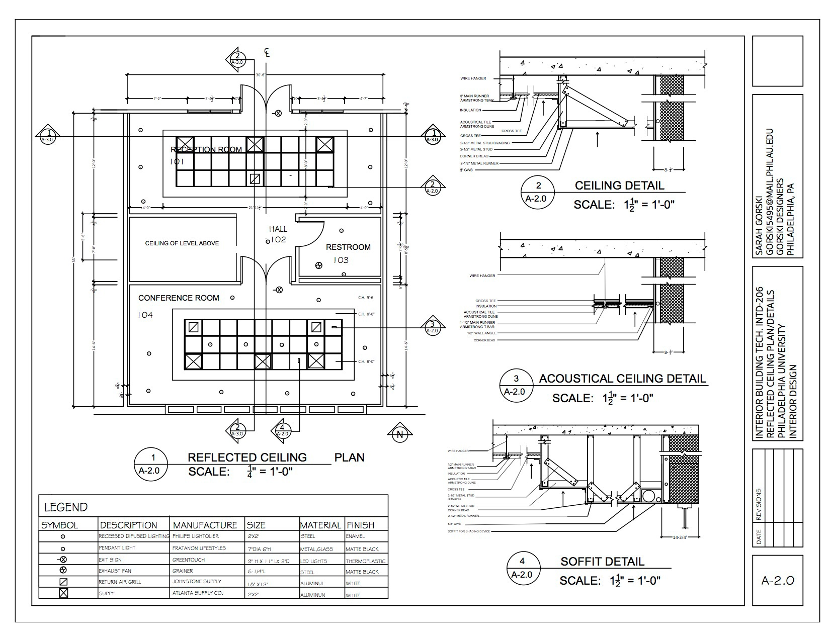 Sarah Gorski Interior Building Tech Construction Documents