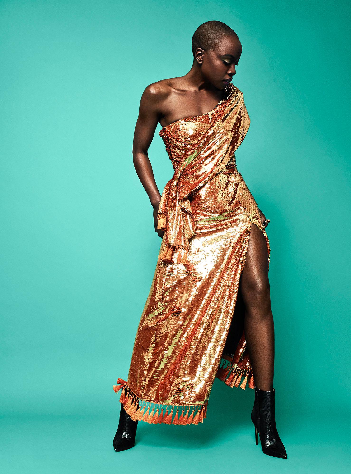 Black Panther's Danai Gurira for ROGUE Magazine