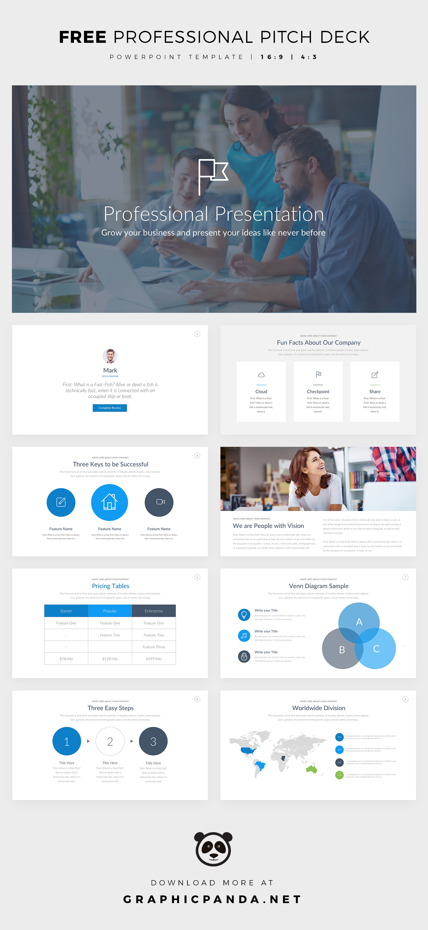 free professional pitch deck ppt template on behance