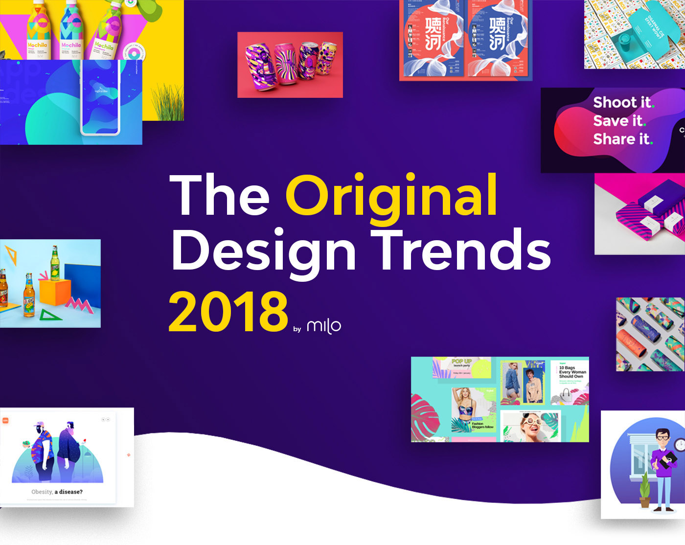 2018 design trends guide by milo on behance