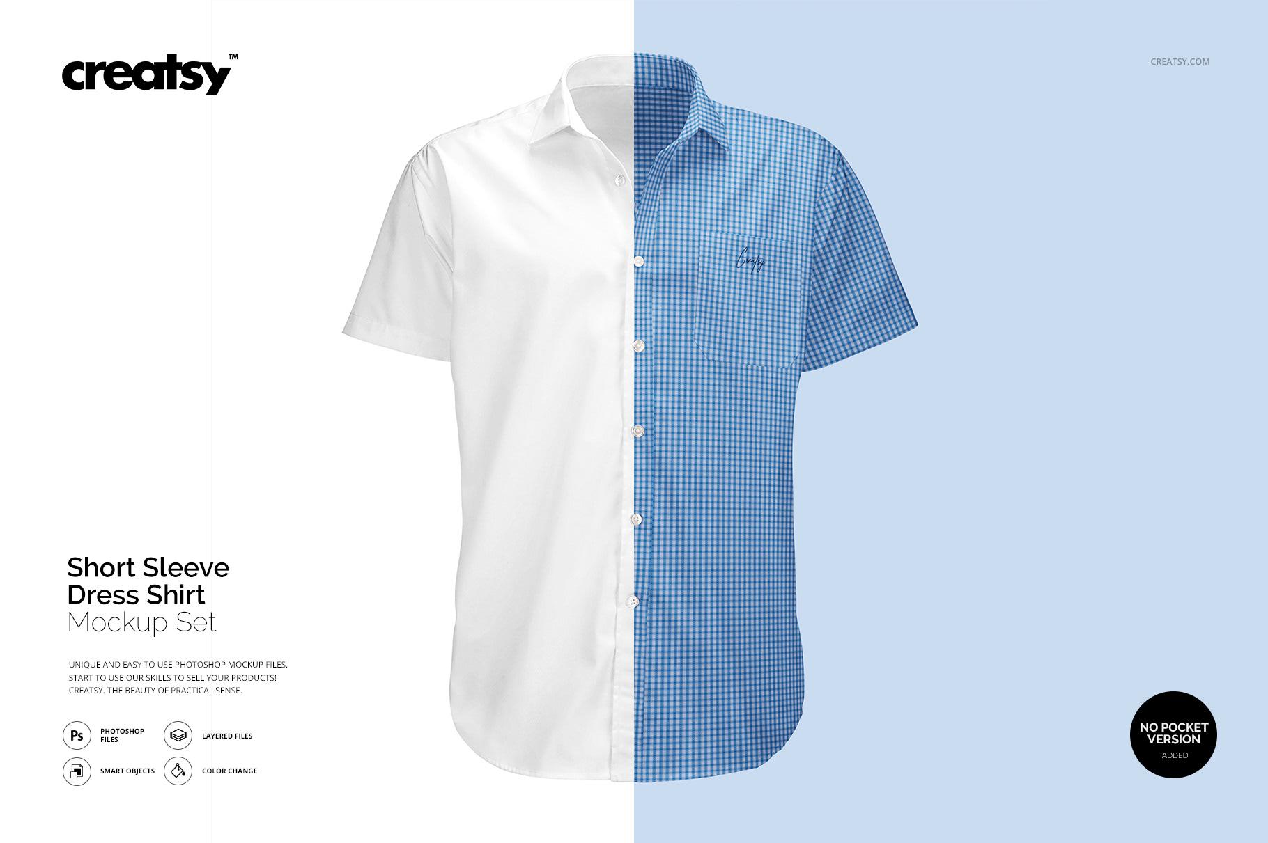 Short Sleeve Dress Shirt Mockup On Behance