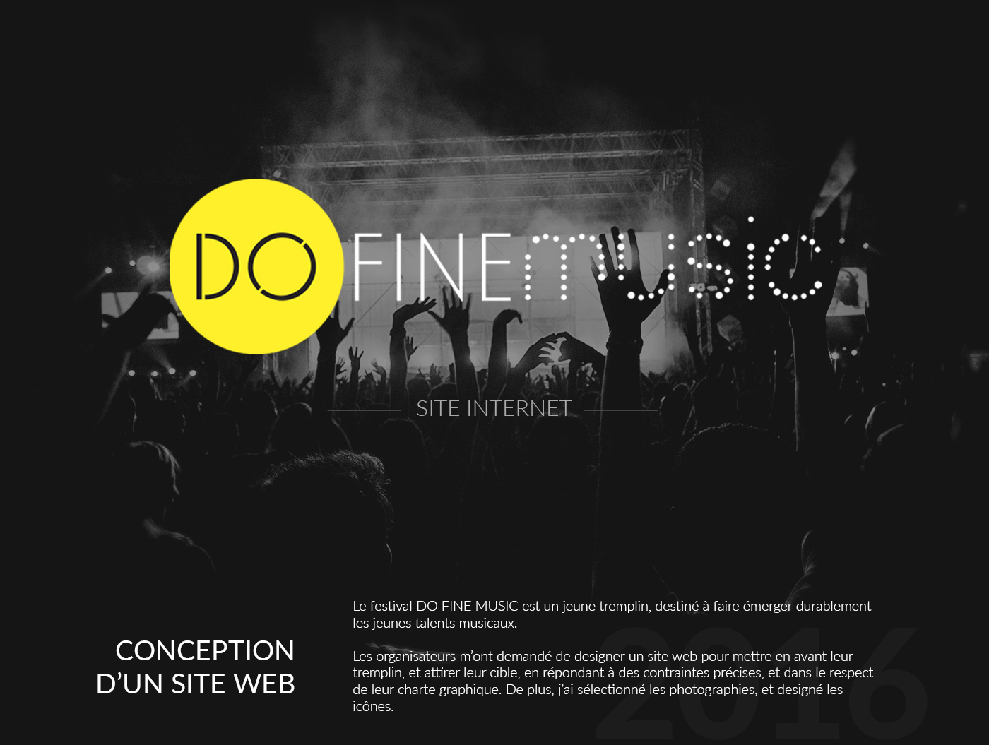 DO FINE MUSIC - Website Festival on Behance