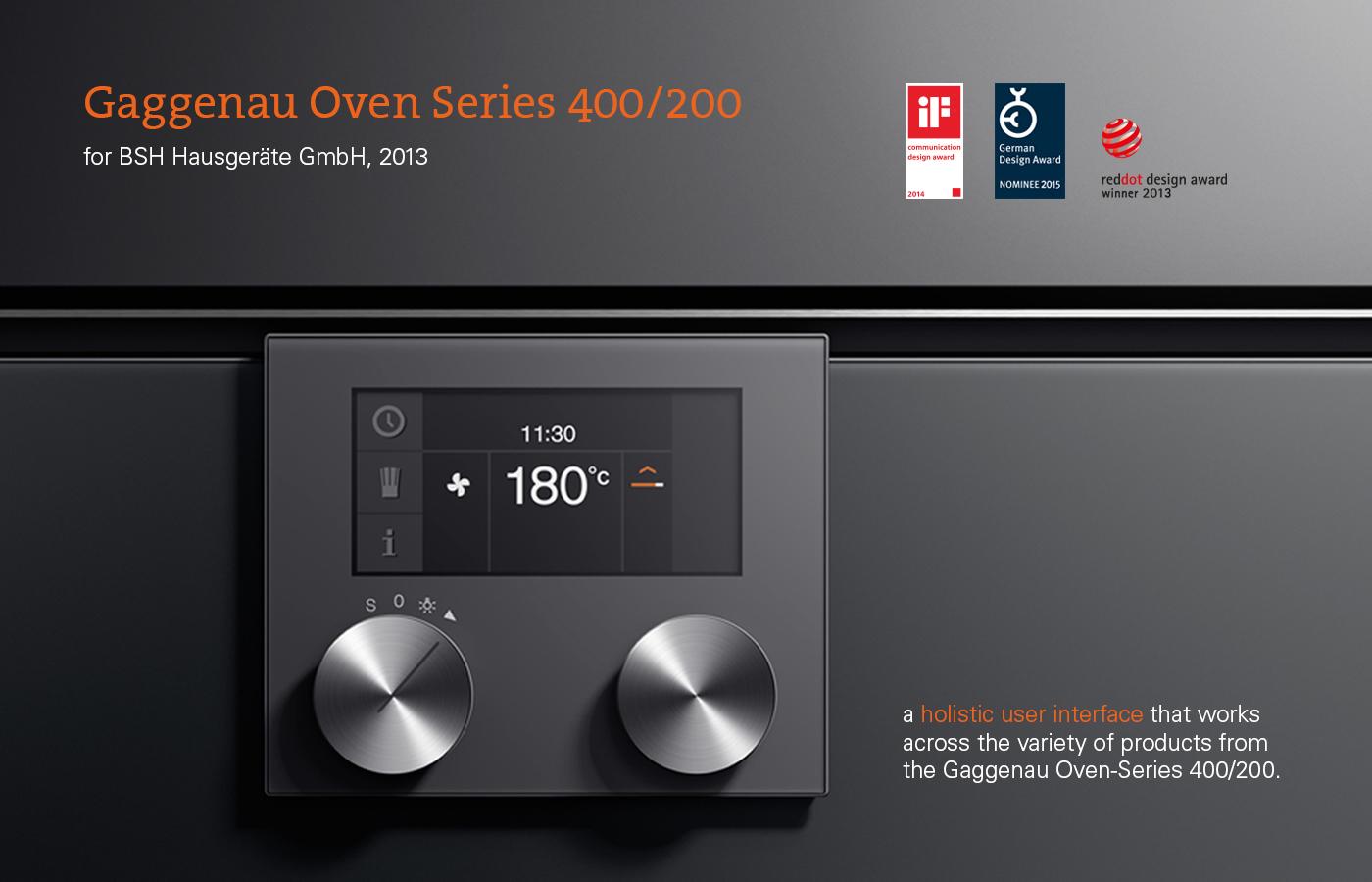 Oven Series Ui For B S H Brand Gaggenau On Behance