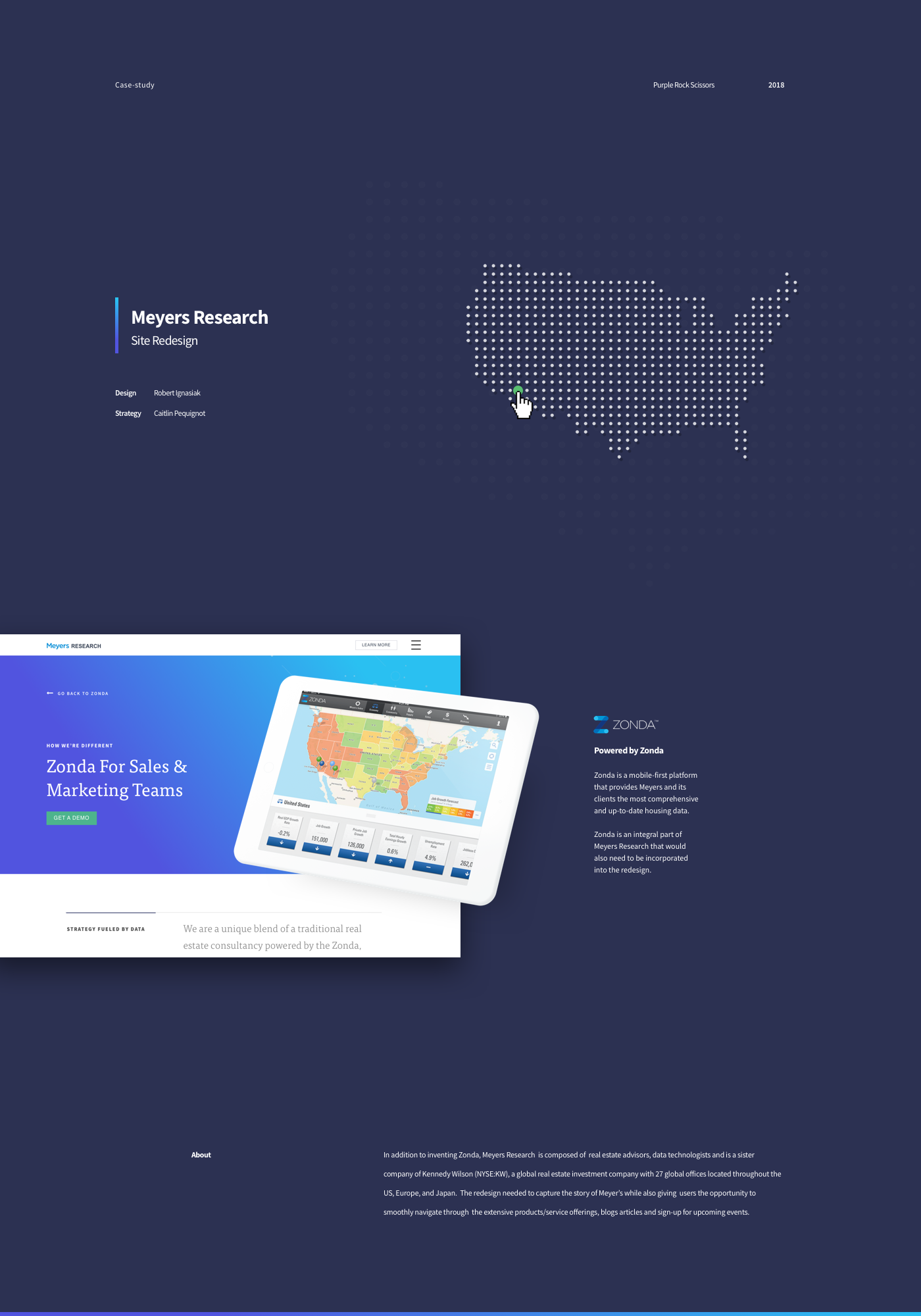 Meyers Research - Redesign on Behance
