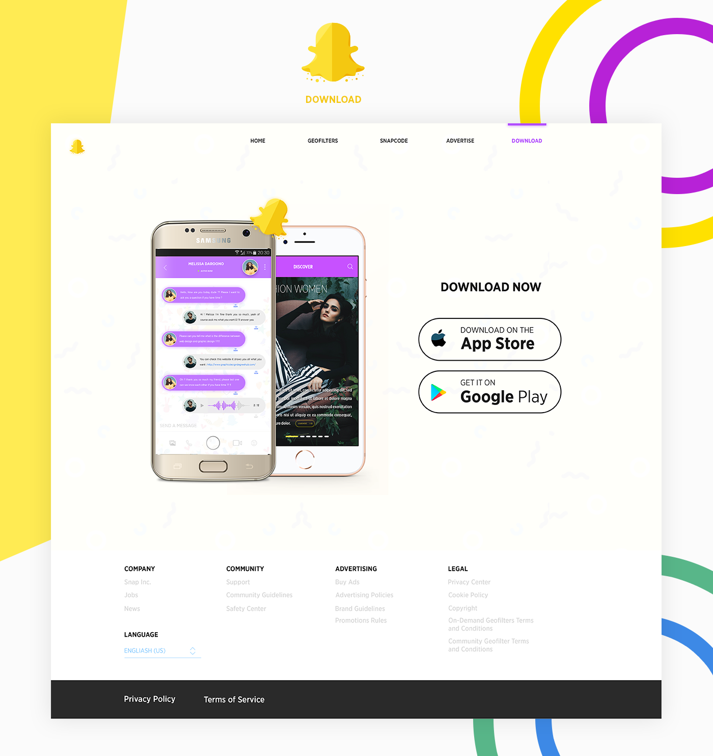Snapchat Redesign on Behance