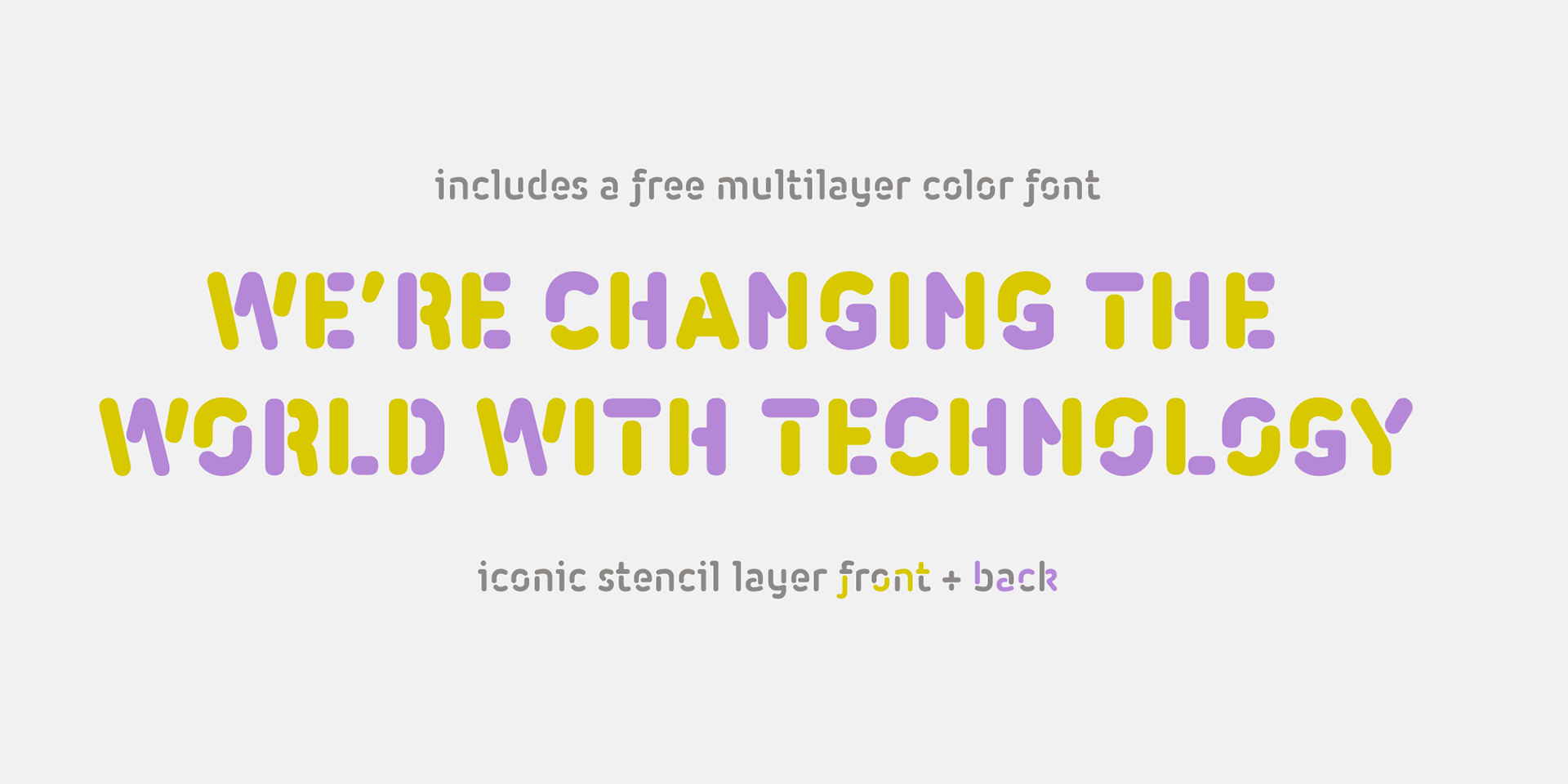 Iconic round type superfamily with 3 FREE FONTS! on Behance