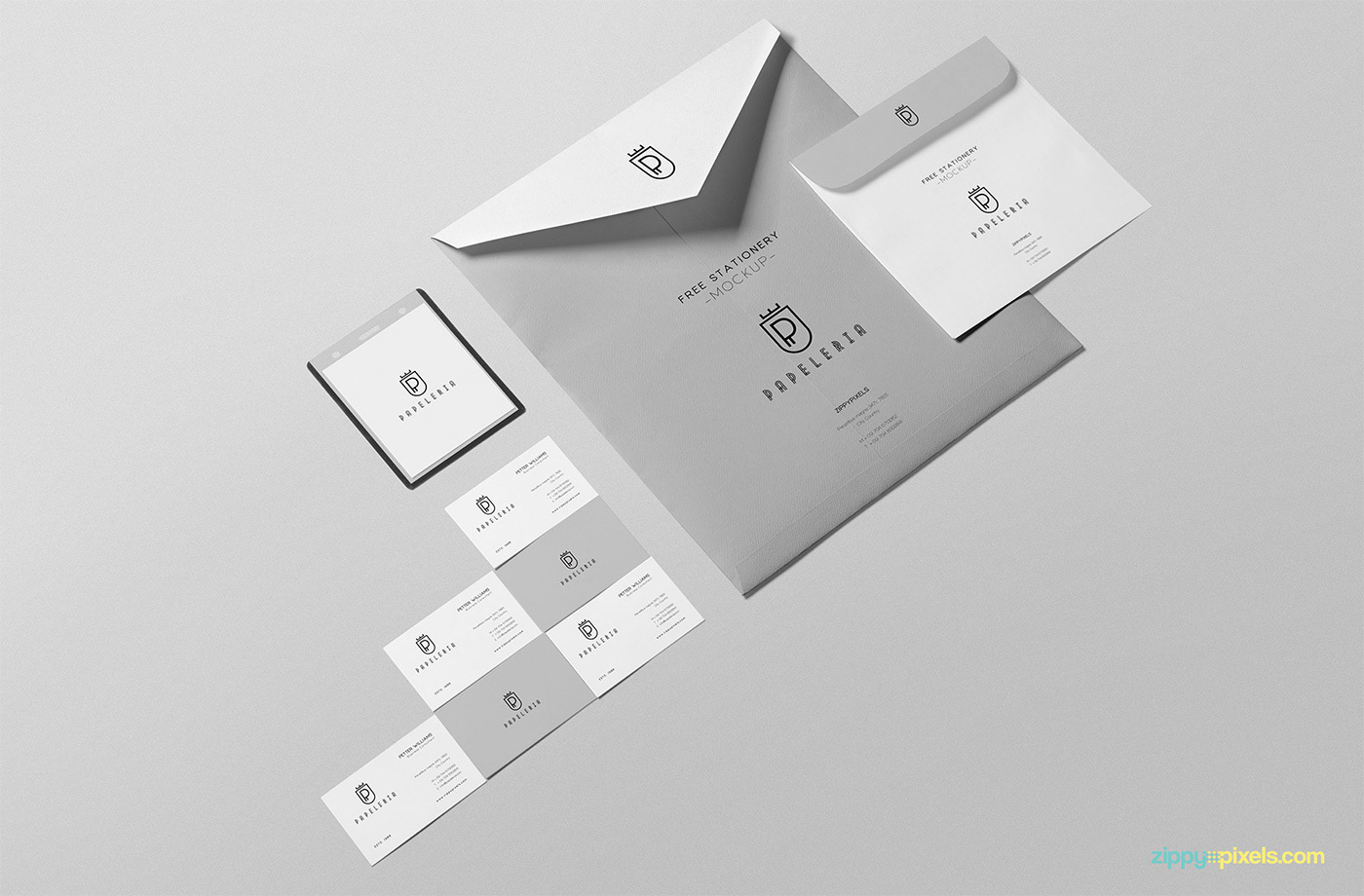 Please Click Here To Download This Free Beautiful Envelope Mockup PSD