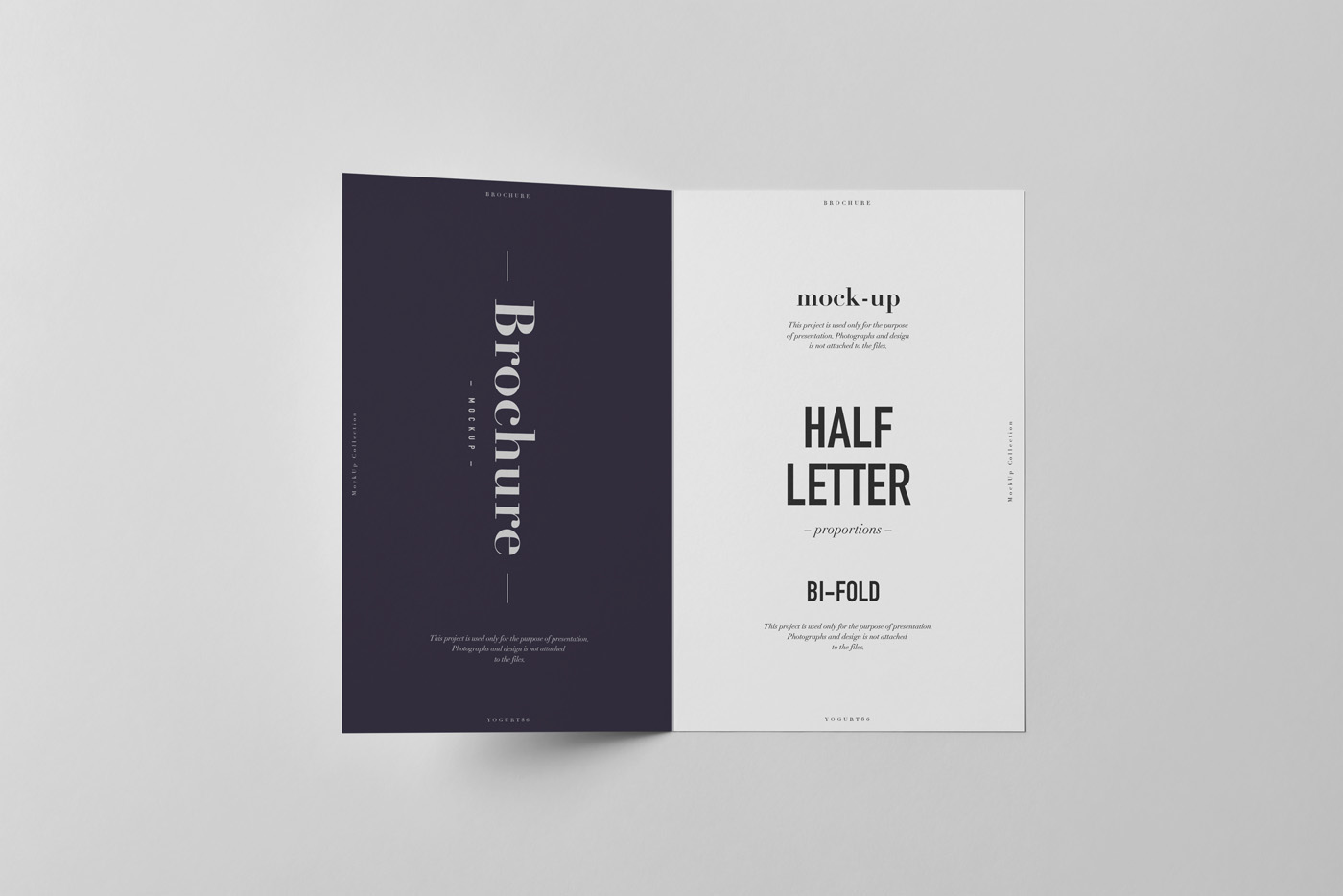 BiFold Half Letter Brochure MockUp On Behance