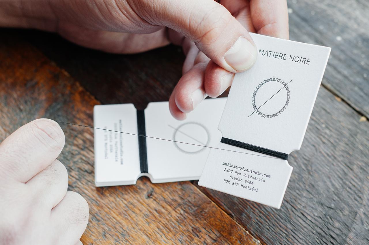 Matire noire handmade business card on behance magicingreecefo Images