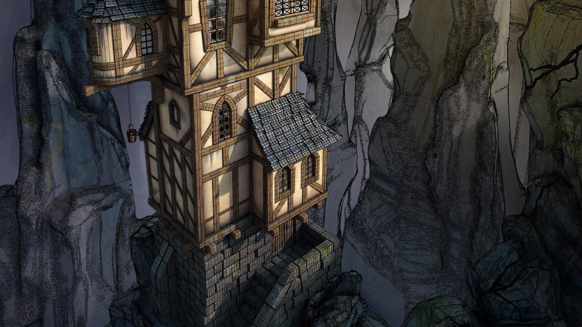 The Cliff Tower - BLENDER 3D full course on Behance