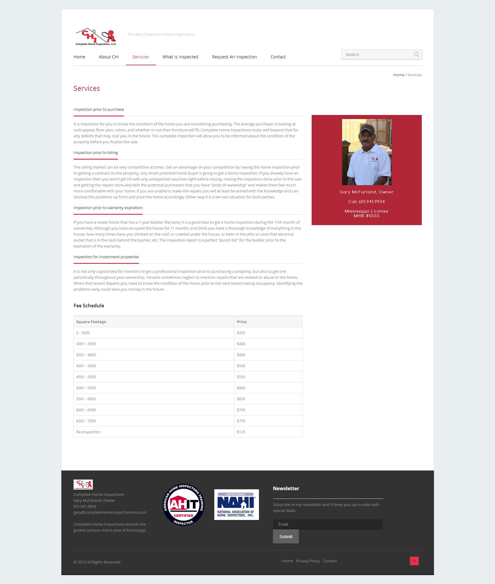 jeff childress web designer jackson ms website design development for complete home inspections ms