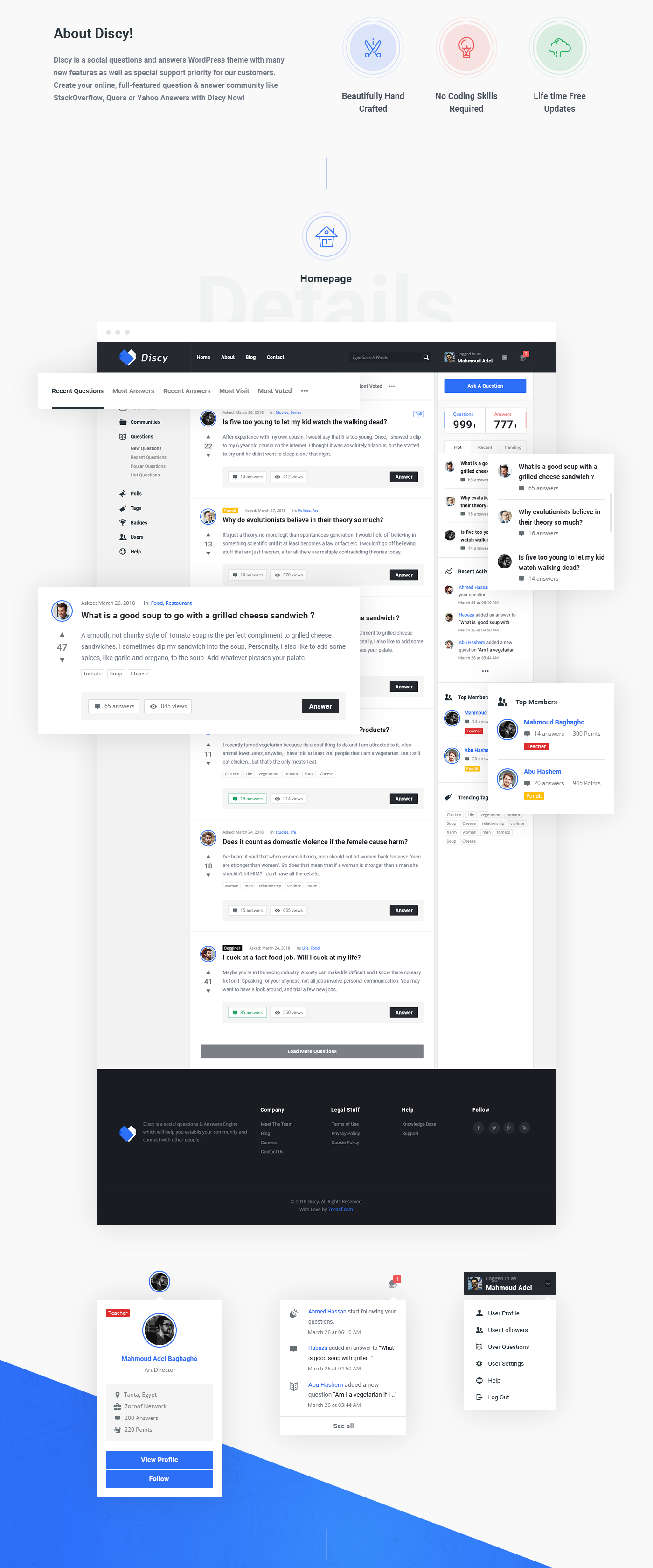 Discy social questions and answers wordpress theme on behance buy wordpress httpsgoommonbx ccuart Images