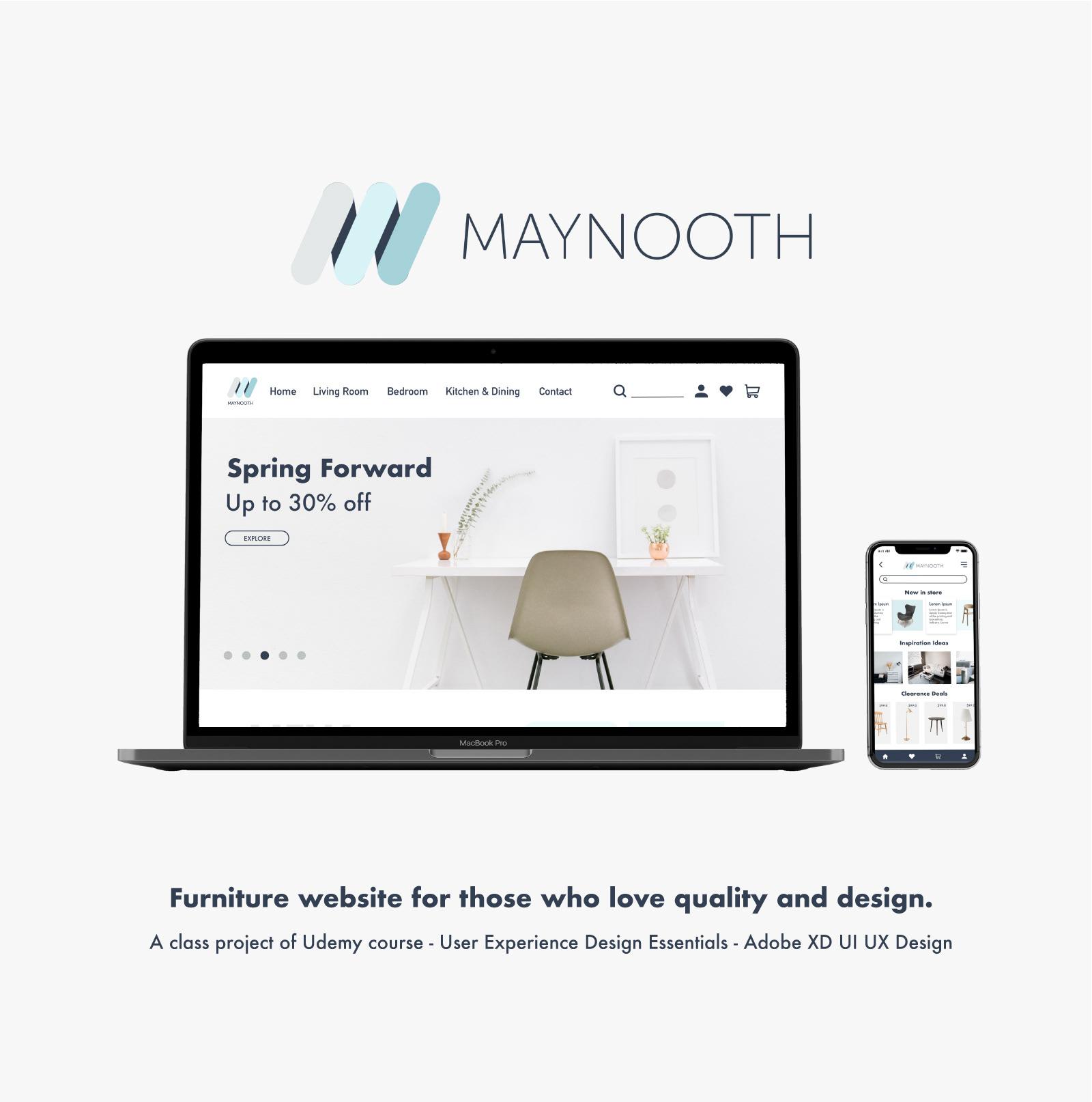Maynooth Furniture Website App Design On Behance