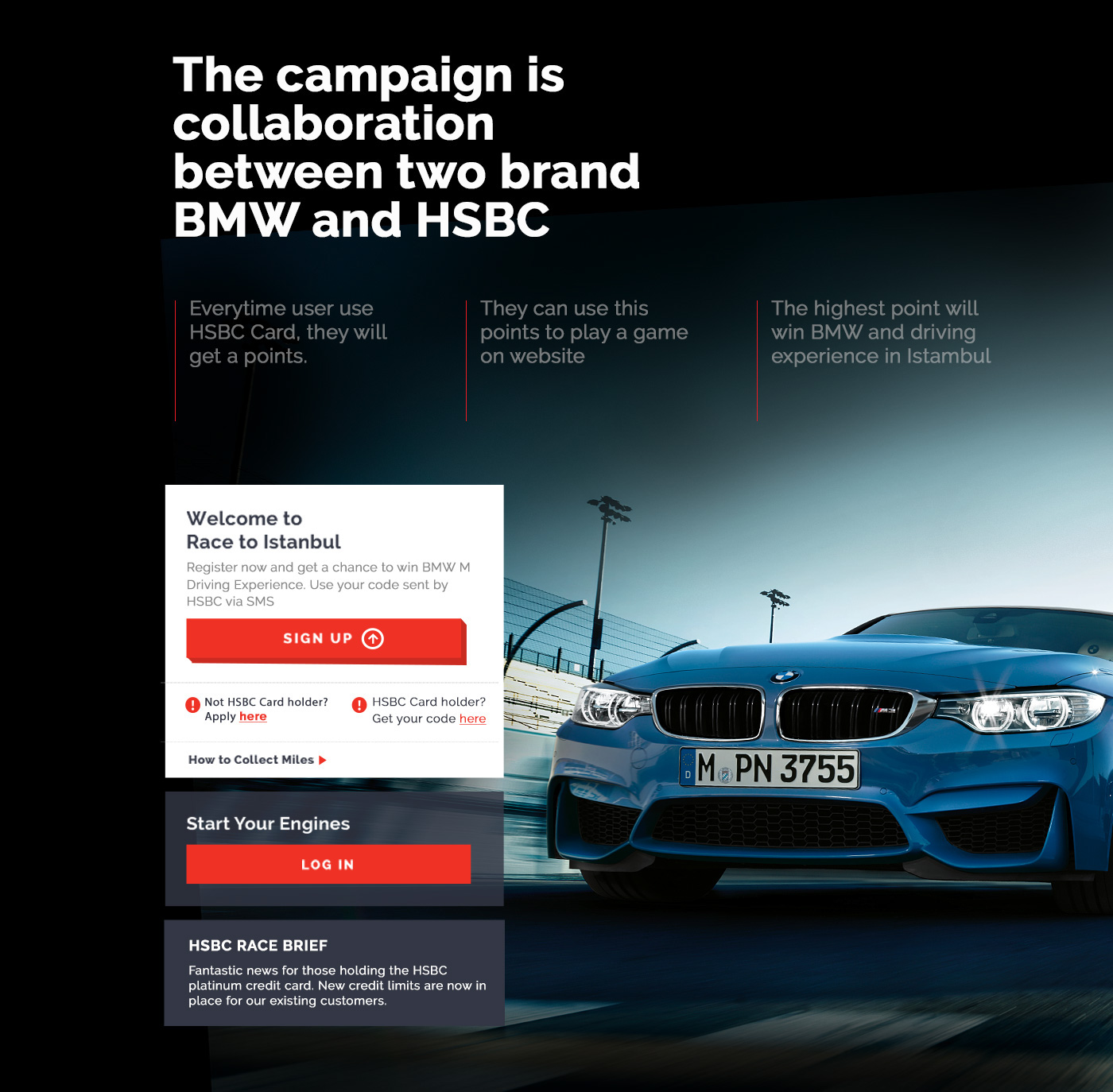 HSBC & BMW Driving Experience Website on Behance