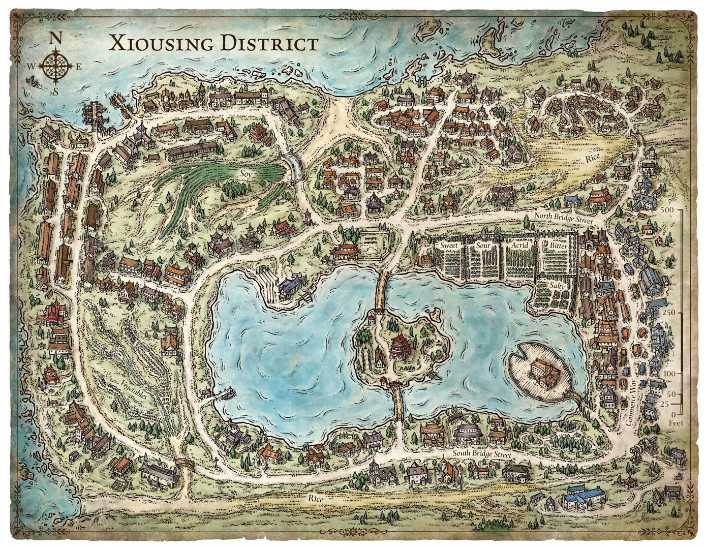 Xiousing District Map