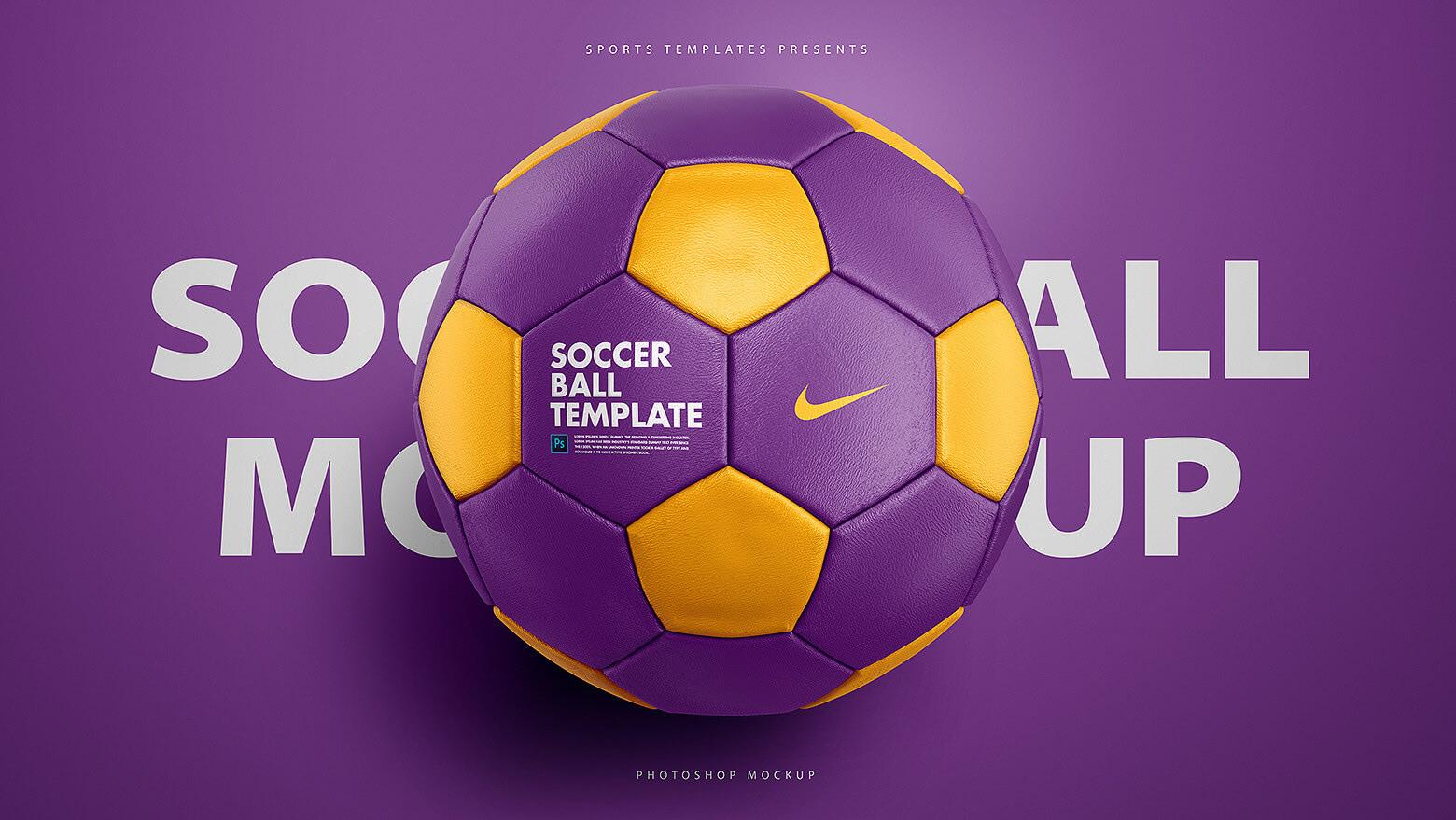 soccer ball football psd mockup template on behance