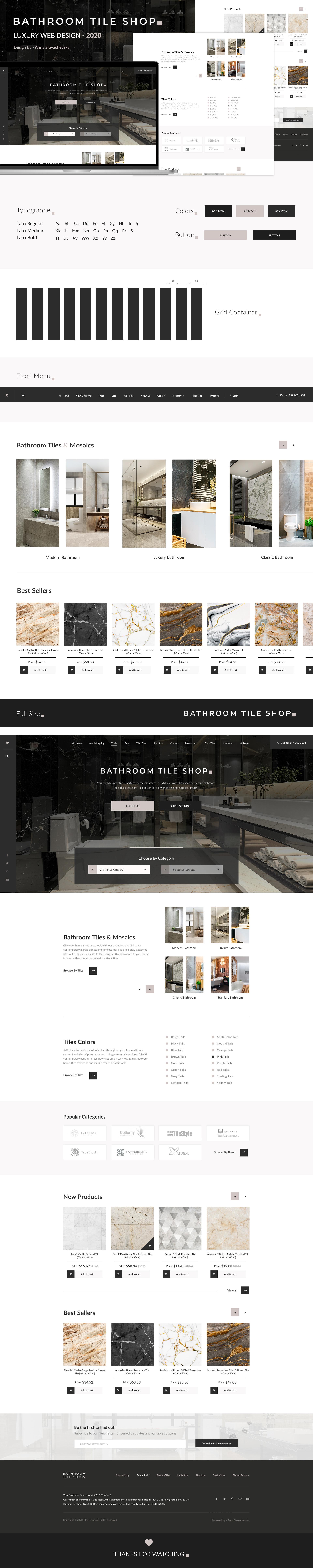 Web design - Luxury Bathroom tile shop