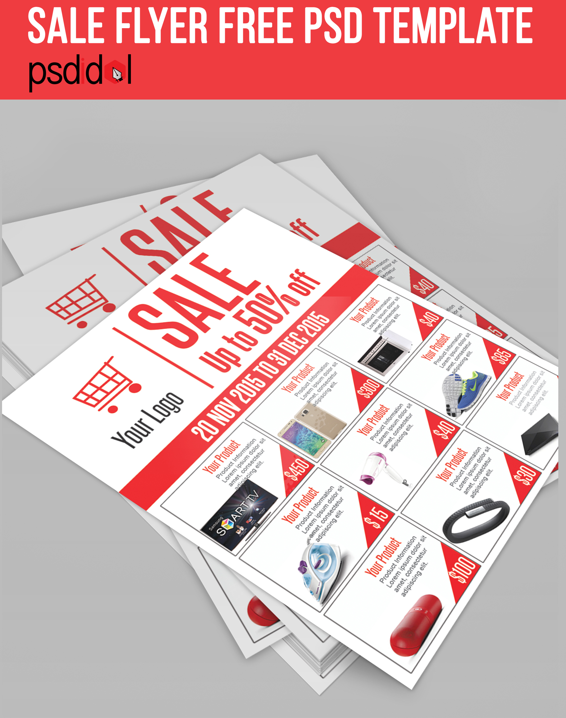 Sale Flyer Free PSD Template Download On Behance - Car for sale flyer template free