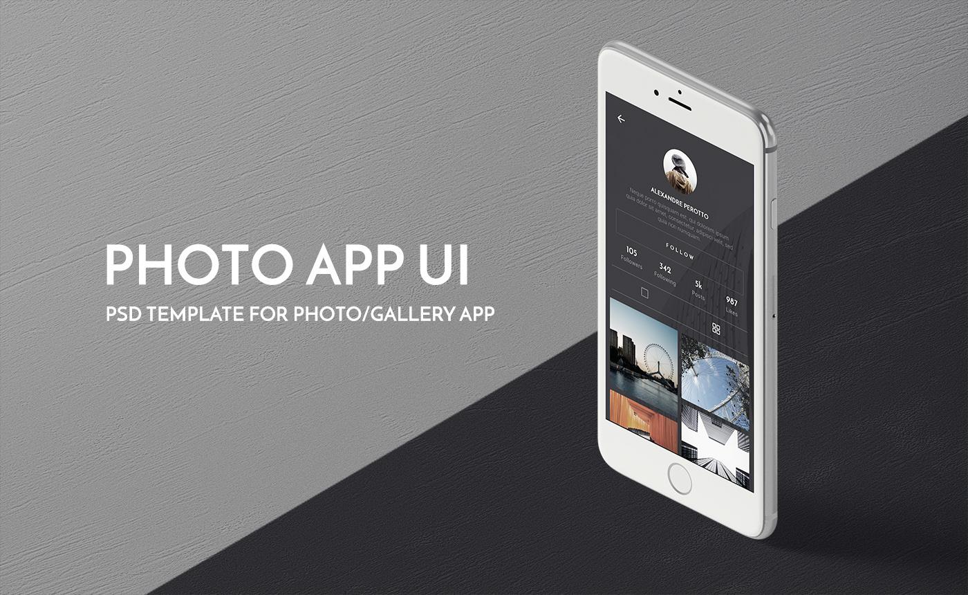 Photo App UI PSD Template on Behance