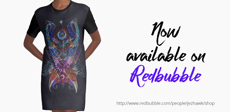 Link to Redbubble store for Jennifer Hawkyard