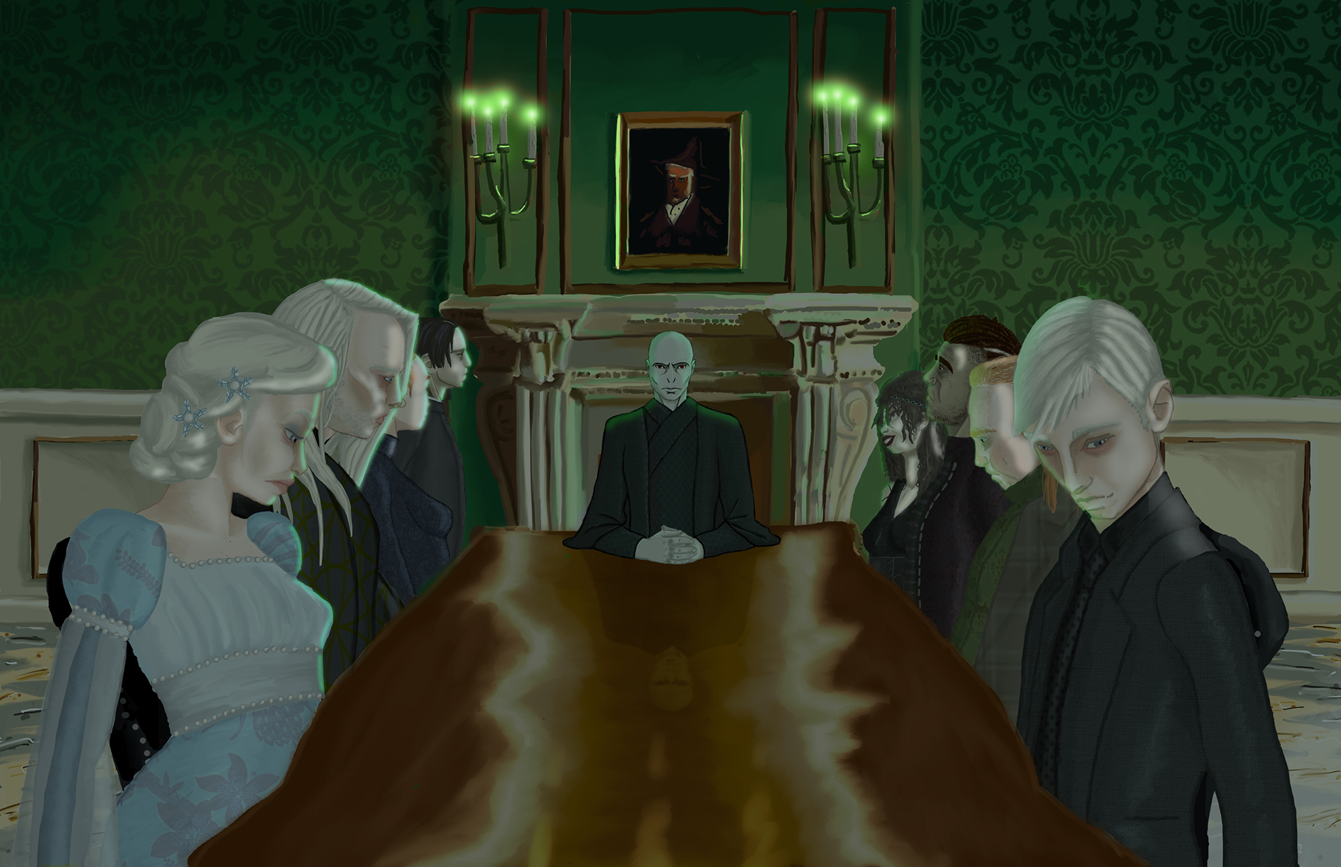 Harry Potter: Death Eater's at Malfoy Manor on Behance