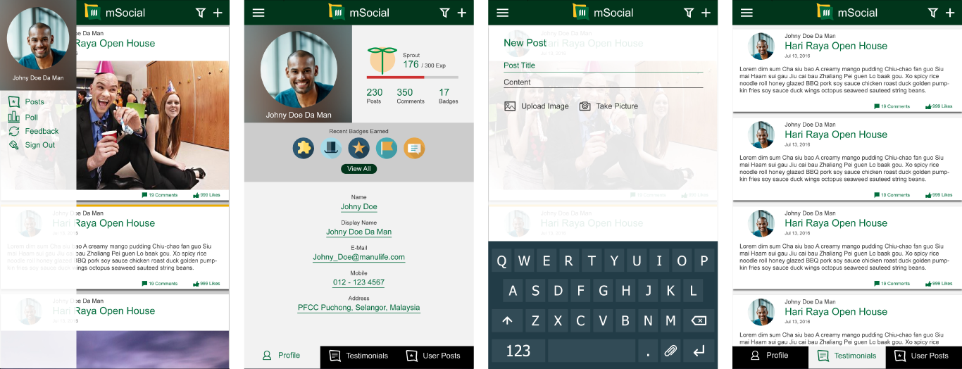 kelvin lee - mSocial iOS and Android App