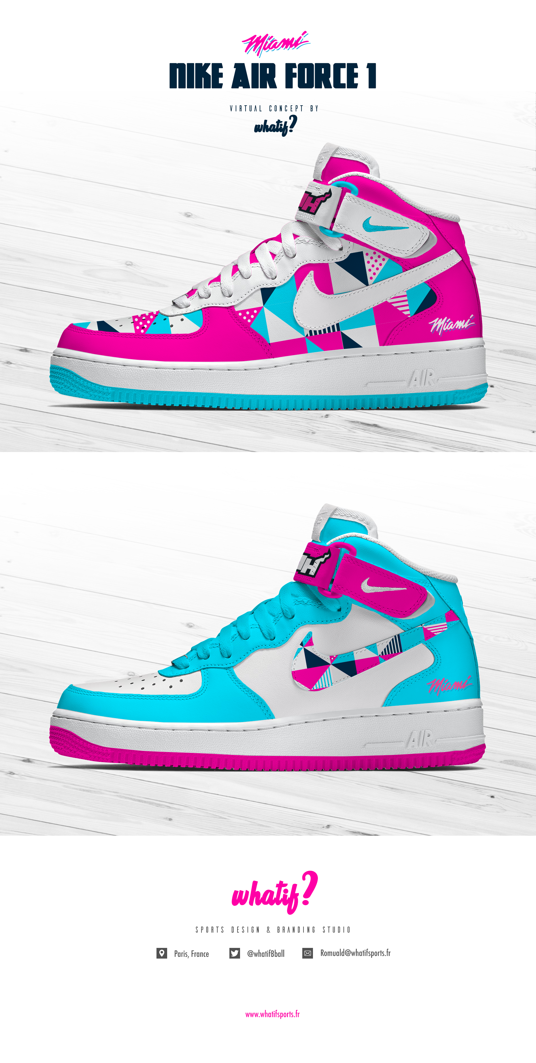 Nike Air Force 1, Miami Heat special edition on Behance