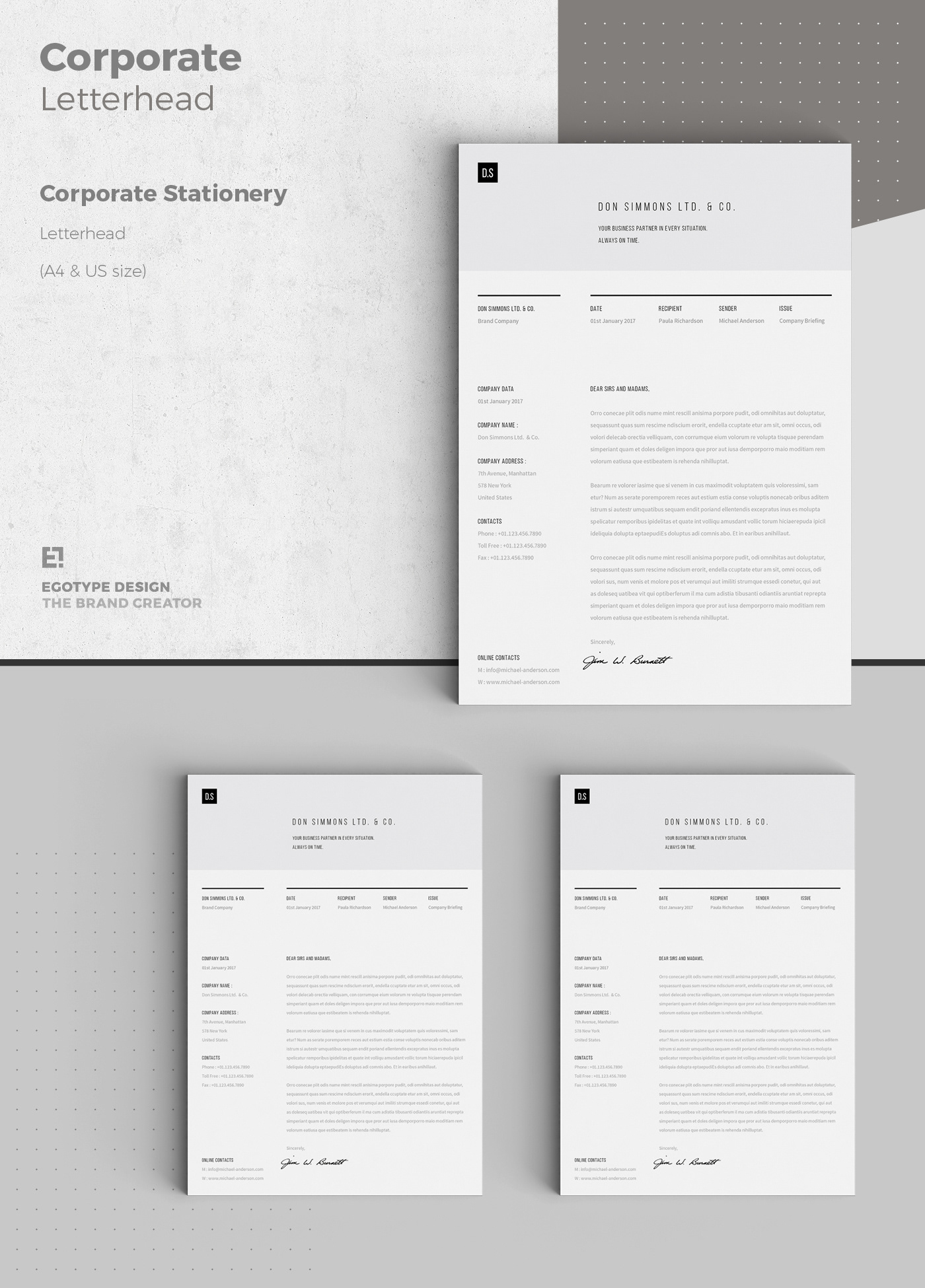 corporate design stationery on behance