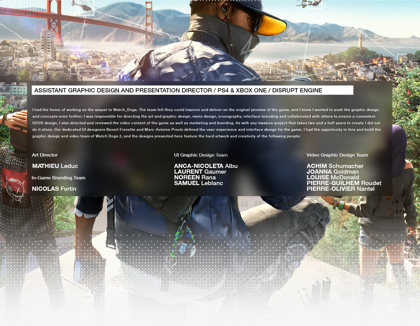 Watch Dogs 2 | Graphic Direction on Behance