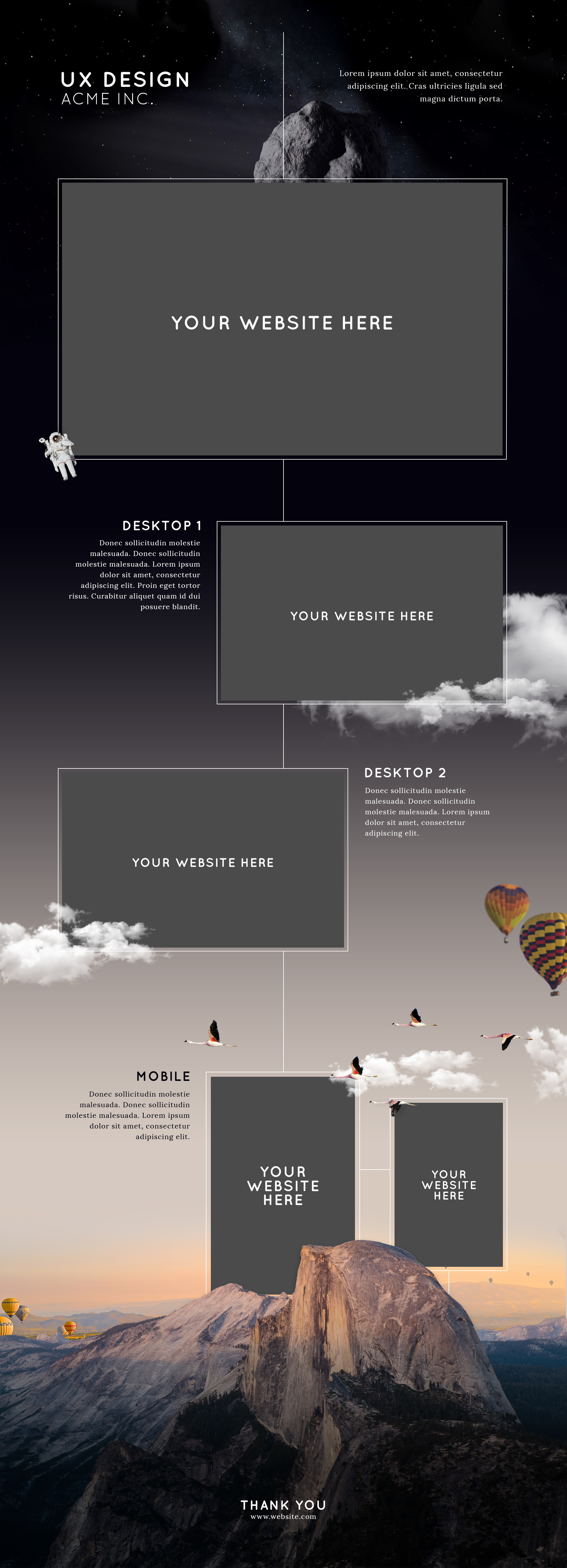 vertical website presentation mockup free download on behance