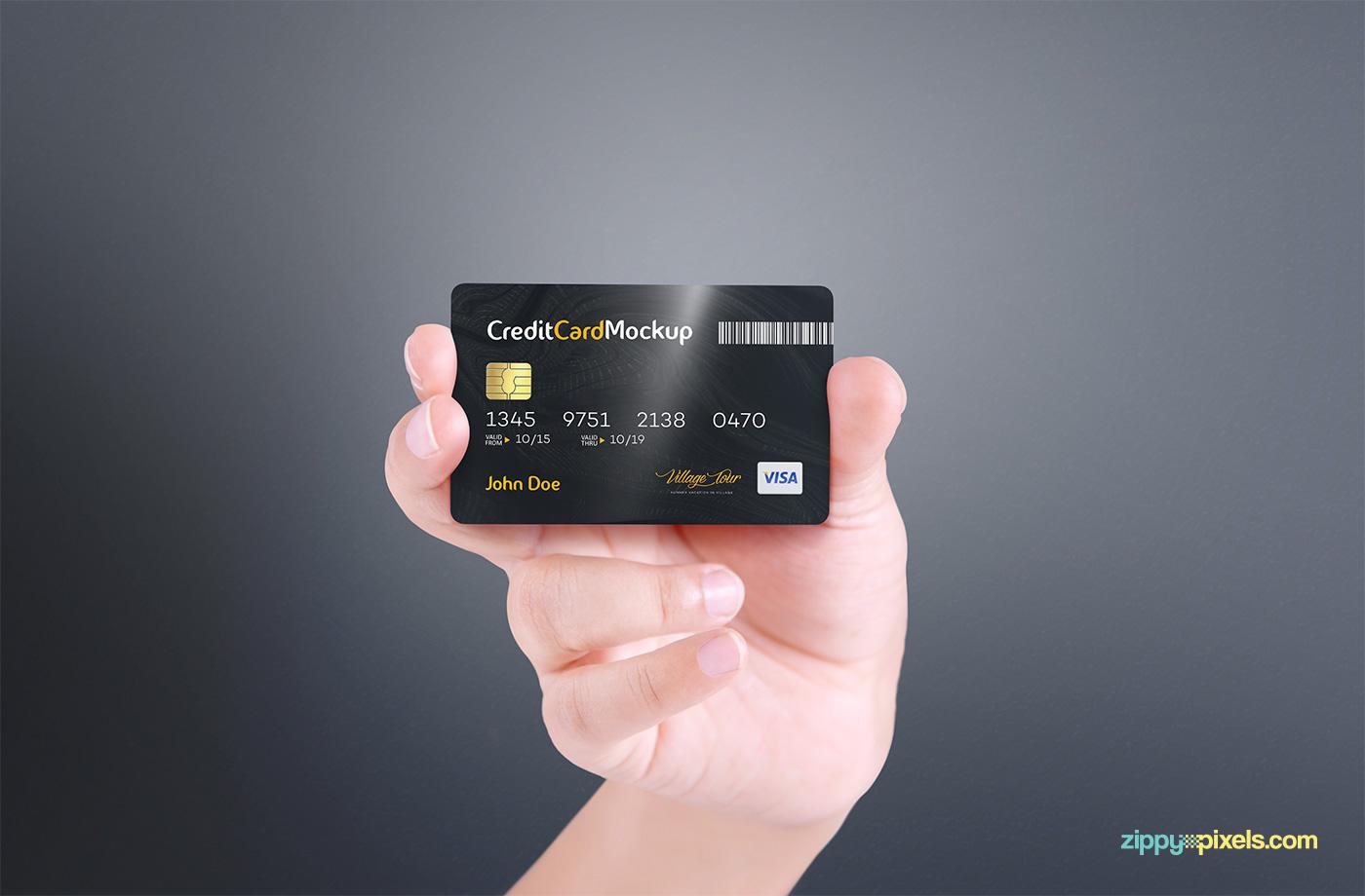 Free Credit Card Mockup On Behance