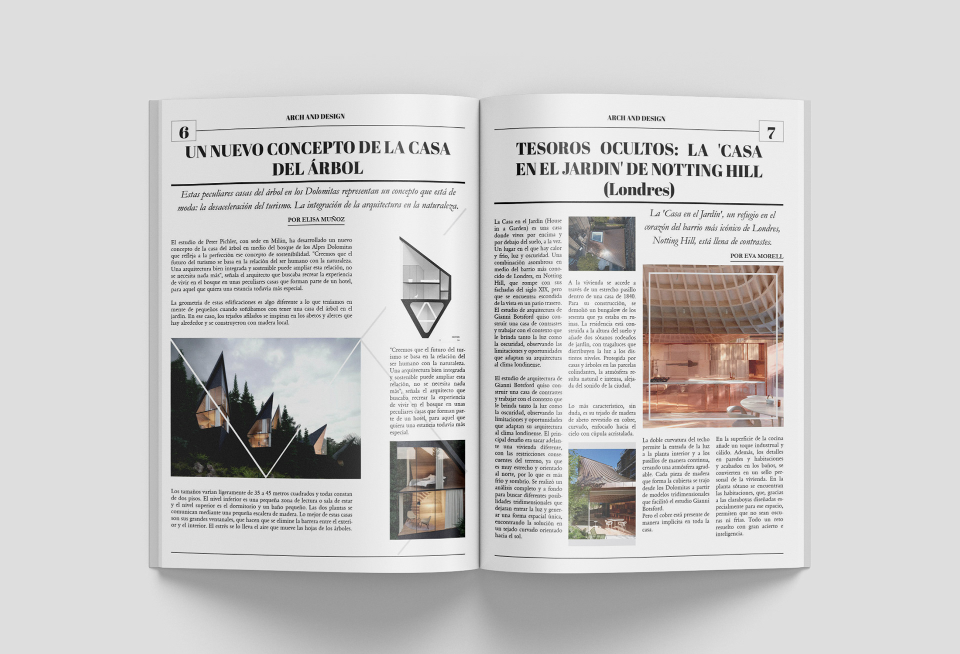 Arch & Design: Magazine Diagramation and Design on Behance