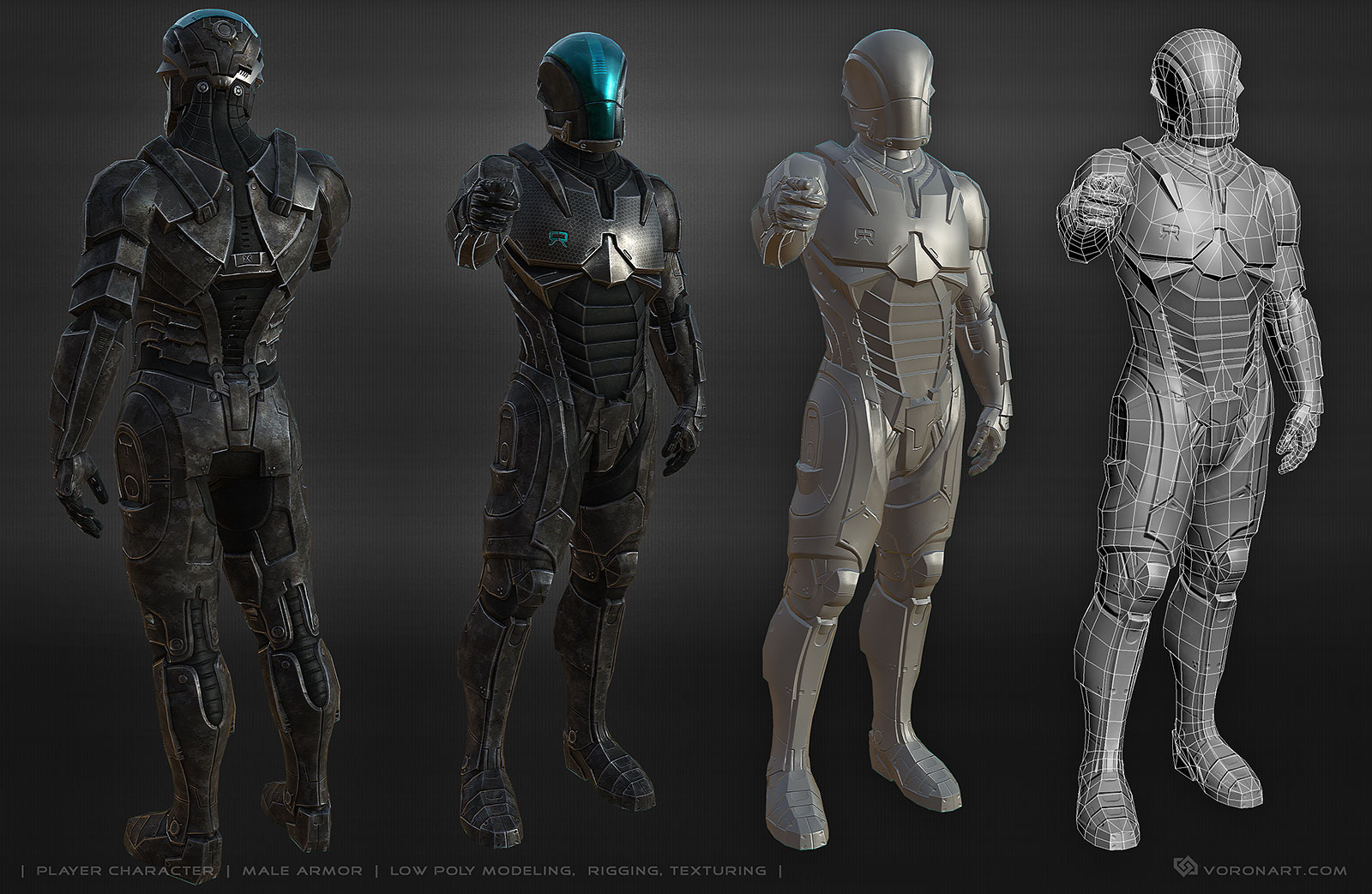 Power armor suit  3d character on Behance
