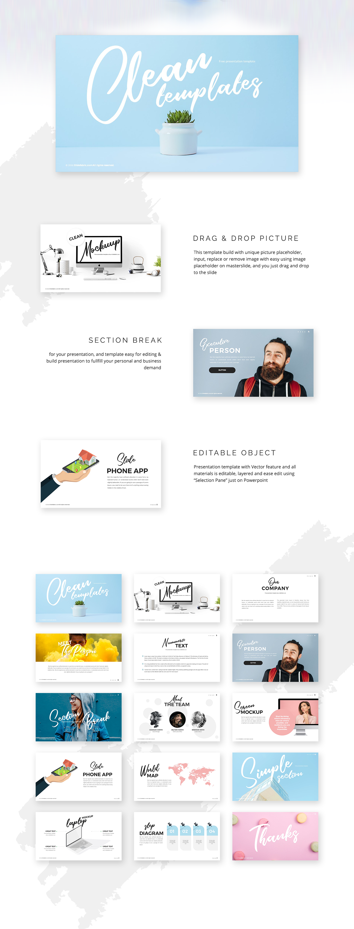 Clean Powerpoint Templates   Free Powerpoint Templates Clean On Behance