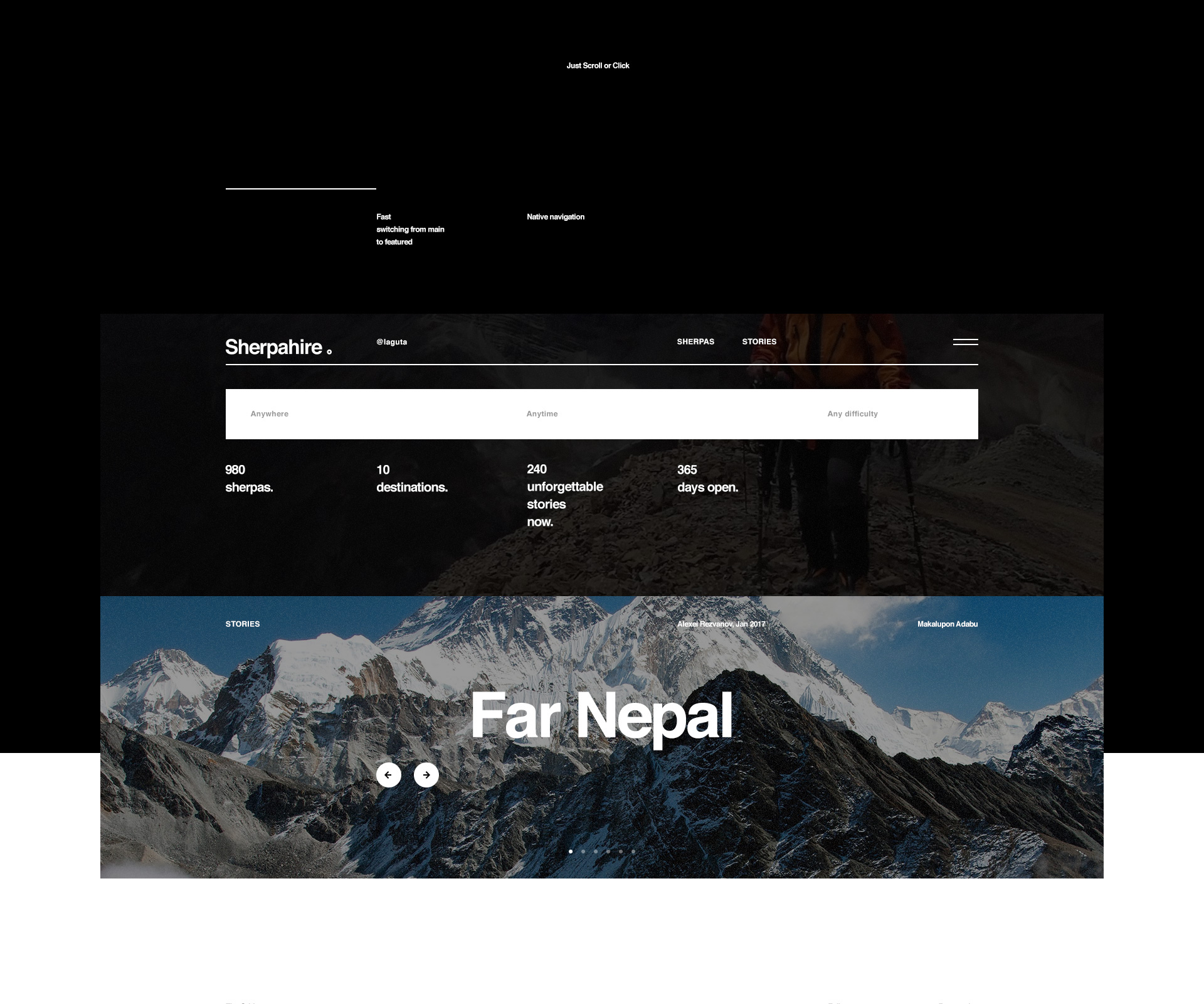 Interaction Design & UI/UX: Sherpahire.com
