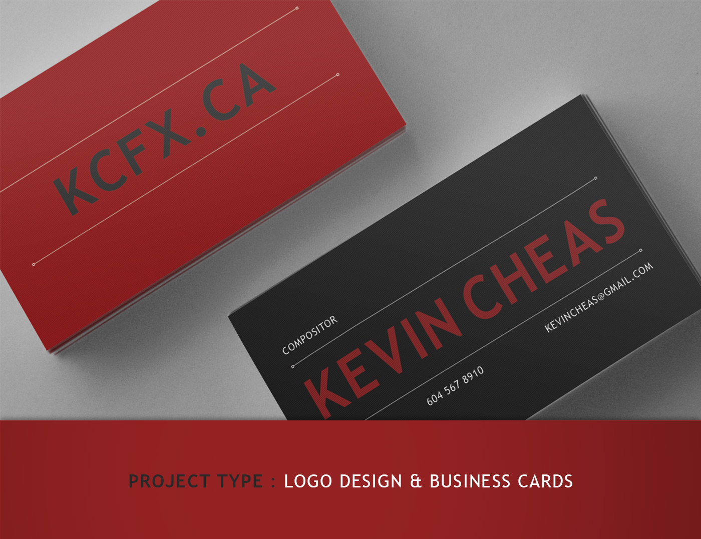 Logo and Business Card Design for Kevin Cheas - KCFX.CA on Behance