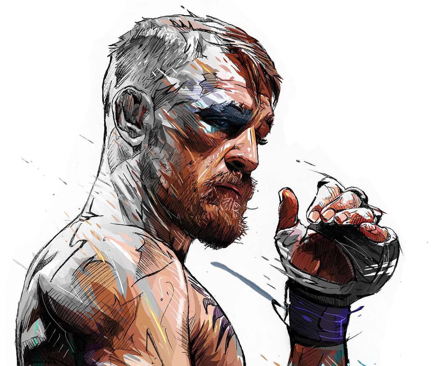 Illustration: Mayweather V McGregor by Yann Dalon